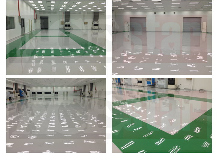 Completed New ESD Epoxy Floor
