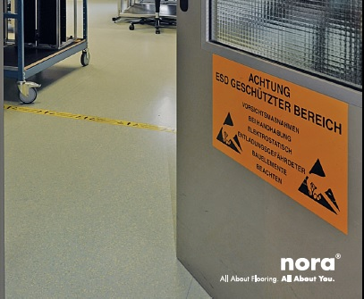 Nora ESD rubber floor 1